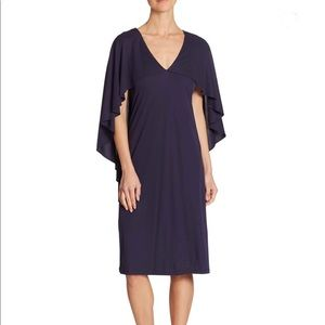 Trina Turk Navy Cape Dress